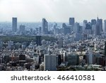 modern cityscape  overlook from ... | Shutterstock . vector #466410581