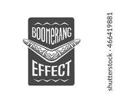 boomerang effect logotype ... | Shutterstock .eps vector #466419881