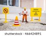 under construction warning  ... | Shutterstock . vector #466424891