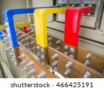 copper bus bars at a circuit... | Shutterstock . vector #466425191