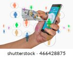 mobile commerce and payment... | Shutterstock . vector #466428875
