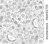 vector seamless pattern of... | Shutterstock .eps vector #466431755