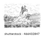 statue of peter the great ... | Shutterstock .eps vector #466432847