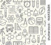seamless school background....   Shutterstock . vector #466433684
