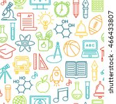 seamless  school background.... | Shutterstock . vector #466433807