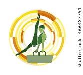 pommel horse. gymnastics sports ... | Shutterstock .eps vector #466437791