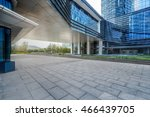 empty brick floor with... | Shutterstock . vector #466439705