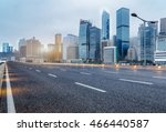 city empty traffic road with...   Shutterstock . vector #466440587