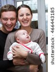 happy parents with a small child | Shutterstock . vector #466443185