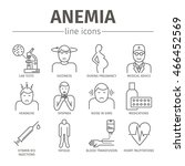 symptoms of anemia. iron... | Shutterstock .eps vector #466452569