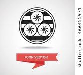 steamed stuffed bun icon | Shutterstock .eps vector #466455971