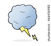 cartoon thundercloud symbol | Shutterstock . vector #466456985