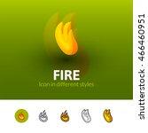 fire color icon  vector symbol...