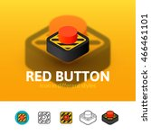 red button color icon  vector...