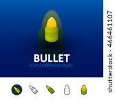bullet color icon  vector...
