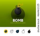bomb color icon  vector symbol...
