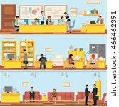 scenes of people working in the ... | Shutterstock .eps vector #466462391