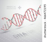 abstract vector dna medical... | Shutterstock .eps vector #466472195