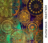 art stylized damask floral... | Shutterstock . vector #46647604
