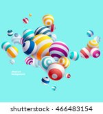 multicolored decorative balls.... | Shutterstock .eps vector #466483154