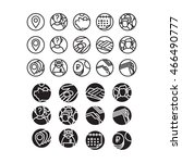 set of icons. icon set consists ... | Shutterstock .eps vector #466490777