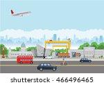 belfast landmarks | Shutterstock .eps vector #466496465