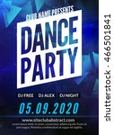 dance party poster template.... | Shutterstock .eps vector #466501841