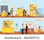working atmosphere in the... | Shutterstock .eps vector #466505711