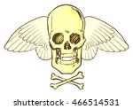 frontal view of a stylized...   Shutterstock .eps vector #466514531