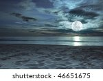 Beautiful Beach At Twilight...