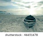 Old Fisherman Boat At Sunrise...