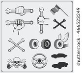 set of car service icons and...   Shutterstock .eps vector #466523249