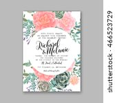 wedding invitation or card with ... | Shutterstock .eps vector #466523729