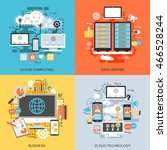 flat conceptual icons set of... | Shutterstock .eps vector #466528244