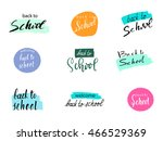 back to school design. set of... | Shutterstock . vector #466529369