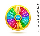 colorful fortune wheel. 3d... | Shutterstock .eps vector #466529417