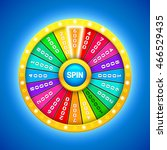 colorful fortune wheel. 3d... | Shutterstock .eps vector #466529435