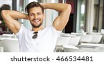 portrait of handsome smiling... | Shutterstock . vector #466534481