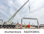 Mobile Crane Is Carry Concrete...