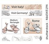 europe travel marketing banner... | Shutterstock .eps vector #466545194