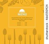 plate cutlery menu restaurant... | Shutterstock .eps vector #466550924