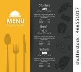 starters salads beef menu... | Shutterstock .eps vector #466551017