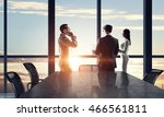 silhouettes of business people... | Shutterstock . vector #466561811