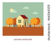 autumn landscape  harvest