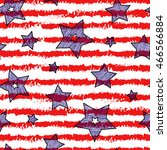 stars and stripes seamless... | Shutterstock .eps vector #466566884