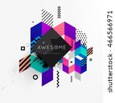 abstract frame for your logo... | Shutterstock .eps vector #466566971