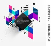 abstract frame for your logo... | Shutterstock .eps vector #466566989