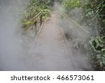 foggy bridge | Shutterstock . vector #466573061
