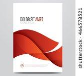 red brochure  flyer  poster ... | Shutterstock .eps vector #466578521