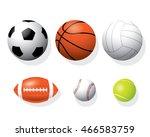 sport ball vector. | Shutterstock .eps vector #466583759